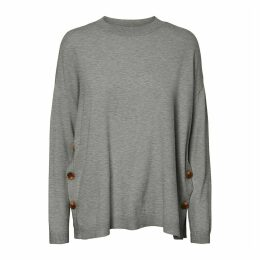 Loose Fit Jumper with Side Buttoning