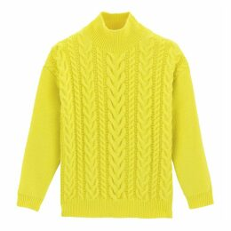 Chunky Cable Knit Jumper with Turtleneck