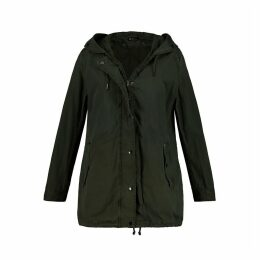 Cotton Hooded Parka with Pockets