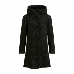 Hooded Wool Mix Coat with Pockets