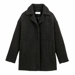 Textured Bouclé Coat with Pockets