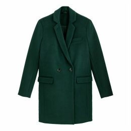 Wool Mix Single-Breasted Coat