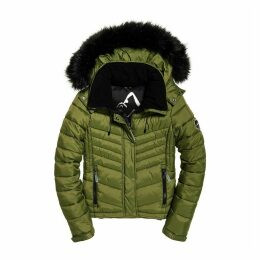 Fuji Quilted Down 3 in 1 Slim Padded Jacket with Faux Fur Hood