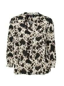 Black Animal Print Shirt, Dark Multi