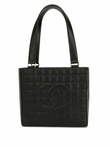 Chanel Pre-Owned Choco Bar CC tote - Black