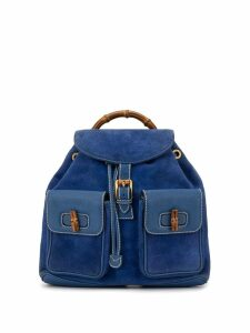 Gucci Pre-Owned Bamboo Line rucksack - Blue