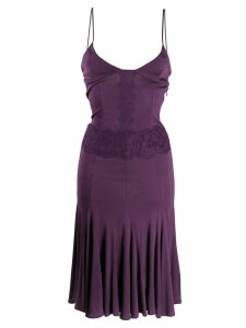 Valentino Pre-Owned 2000s lace panel dress - Purple