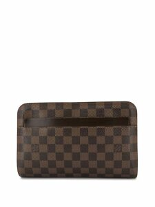 Louis Vuitton Pre-Owned Saint Louis zipped clutch - Brown