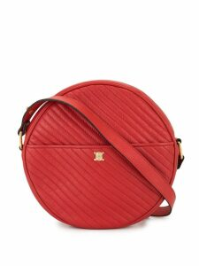 Céline Pre-Owned diagonal quilt round crossbody bag - Red