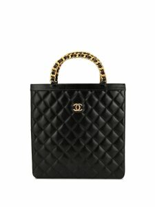 Chanel Pre-Owned Paris Limited diamond quilted tote - Black