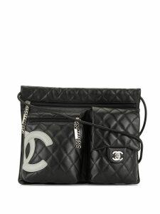 Chanel Pre-Owned Cambon Line multi-compartment shoulder bag - Black