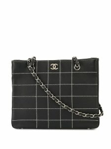 Chanel Pre-Owned quilted chain tote - Black
