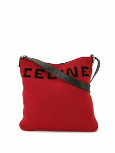 Céline Pre-Owned logo printed shoulder bag - Red