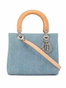 Christian Dior Pre-Owned Lady Dior studded shoulder bag - Blue