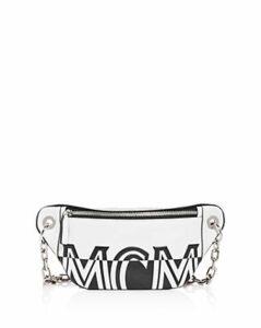 Mcm Logo Small Leather Belt Bag