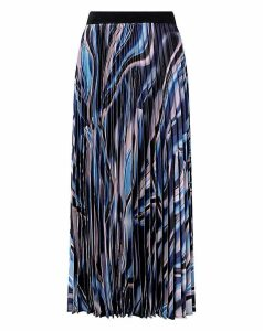Monsoon Mabel Marble Print Pleated Skirt