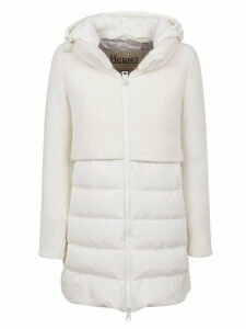 White Technical Fabric Padded Jacket