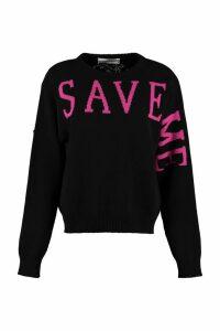 Alberta Ferretti Intarsia Cashmere Sweater