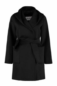 Max Mara Rialto Hooded Camel-wool Coat