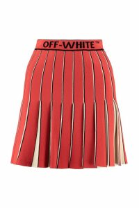 Off-White Swans Pleated Skirt