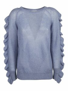Be Blumarine Ruffled Sleeve Detail Jumper