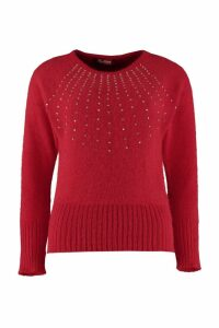 Max Mara Studio Ghianda Embellished Crew-neck Sweater