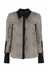 Elisabetta Franchi Celyn B. Long-sleeved Silk Shirt