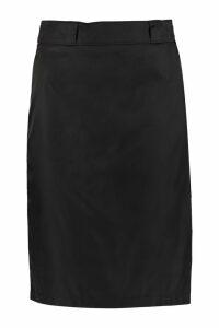 Prada Nylon Gabardine Wrap Skirt