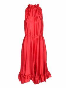 MSGM Sleeveless Ruffled Dress