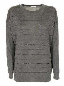 Brunello Cucinelli Embellished Stripe Sweater