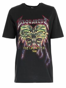 Dsquared2 T-shirt W/print And Written Microswarovsky