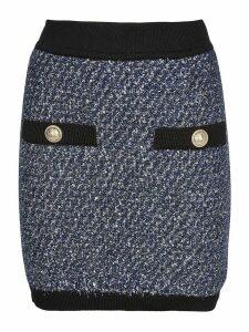 Balmain Knitted Button Skirt