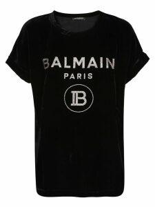 Balmain Velvet Glitter Logo T-shirt