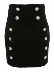 Balmain Buttons Detail Mini Skirt