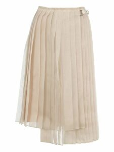Fendi Asymmetric Pleated Skirt