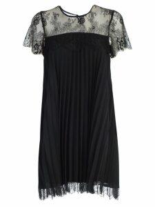 TwinSet Dress S/s Plisse W/lace