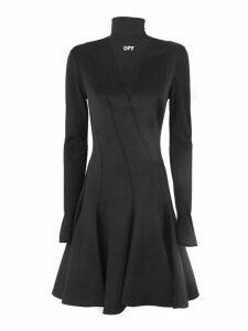 Off-White Pleated Black Dress