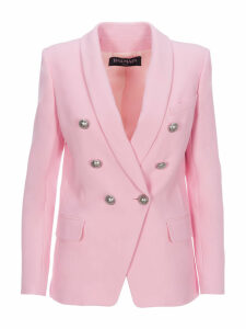 Balmain Double-breasted Blazer With Silver-tone Buttons