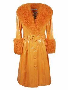 Saks Potts Foxy Shearling Gloss Coat