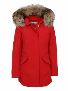 Red Cotton Padded Coat