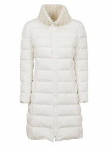 White Technical Fabric Padded Coat