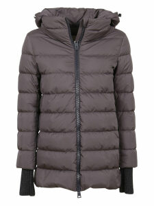 Grey Technical Fabric Padded Coat
