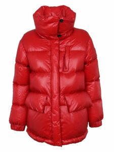 Red Technical Fabric Padded Jacket