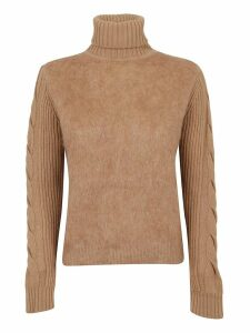 Beige Wool And Mohair Sweater