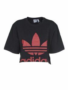 Adidas Originals Black T-shirt With Red Logo