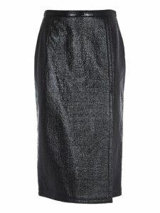 N.21 Glossy Black Skirt
