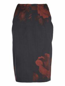 N.21 Black Flowers Skirt