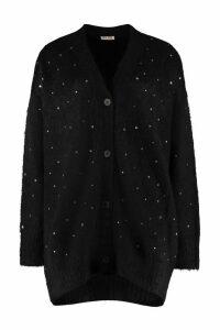Miu Miu Blend Wool Cardigan With Nacre Buttons