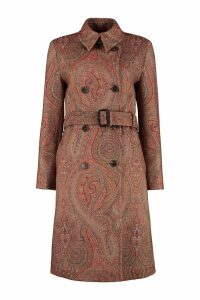 Etro Paisley Double-breasted Coat