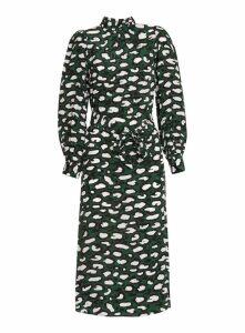 Essentiel Antwerp Printed Silk Midi Dress